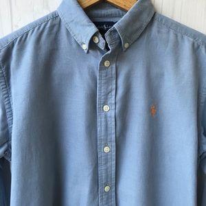 Ralph Lauren Shirts & Tops - Ralph Lauren Light Blue Corduroy Shirt- Boys 12-14